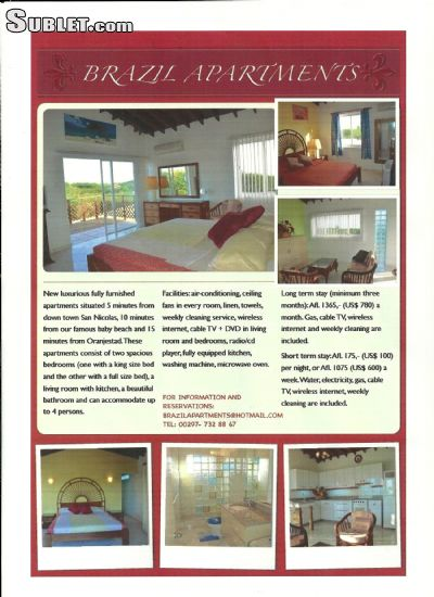 Image 6 furnished 2 bedroom Apartment for rent in Brasil, Aruba