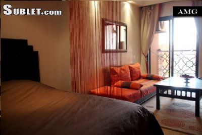 Image 1 furnished Studio bedroom Apartment for rent in Marrakech, Morocco