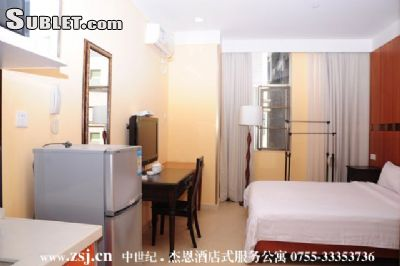 Image 1 furnished Studio bedroom Apartment for rent in Futian, Shenzhen