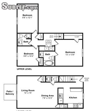 Image 1 either furnished or unfurnished 3 bedroom Apartment for rent in Westborough, Central MA