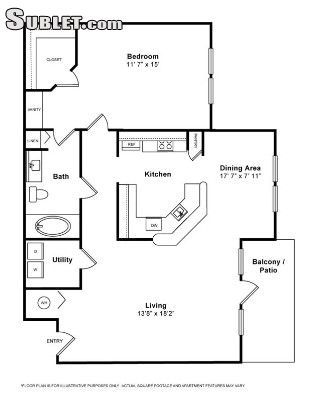 Image 3 either furnished or unfurnished 1 bedroom Apartment for rent in Miramar, Ft Lauderdale Area