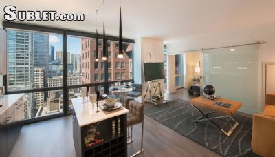 Image 1 either furnished or unfurnished 1 bedroom Apartment for rent in Loop, Downtown