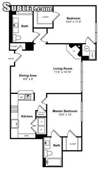 Image 3 either furnished or unfurnished 2 bedroom Apartment for rent in Jersey City, Hudson County