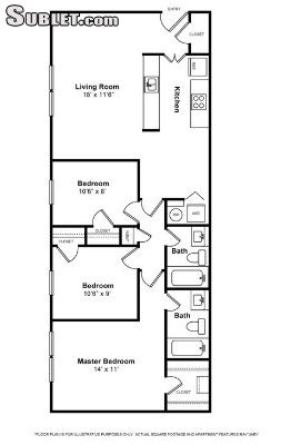 Image 3 either furnished or unfurnished 2 bedroom Apartment for rent in Woodbridge, DC Metro