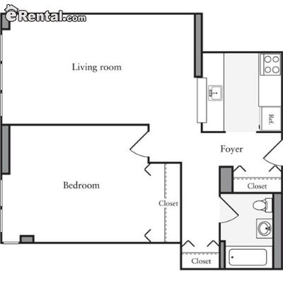 Image 2 unfurnished 1 bedroom Apartment for rent in Midtown-West, Manhattan