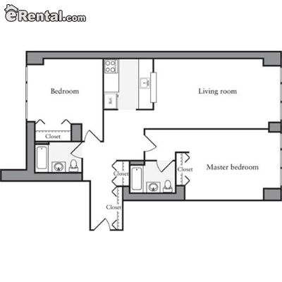 Image 6 unfurnished 2 bedroom Apartment for rent in Midtown-West, Manhattan