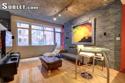 Image 1 furnished 1 bedroom Loft for rent in Downtown, Montreal Area