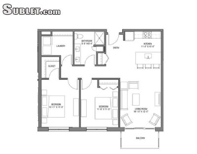 Image 1 unfurnished 2 bedroom Apartment for rent in Near West (campus), Madison