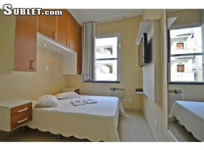 Image 2 furnished 1 bedroom Apartment for rent in Bacia Sao Joao, Rio de Janeiro