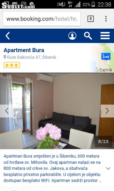 Image 2 furnished 2 bedroom Apartment for rent in Sibenik, Sibenik Knin