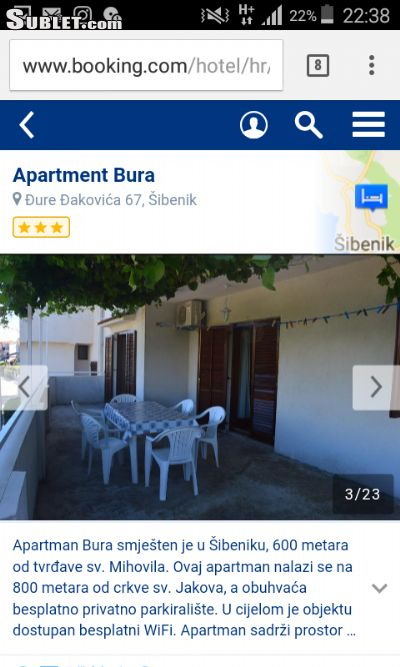 Image 4 furnished 2 bedroom Apartment for rent in Sibenik, Sibenik Knin