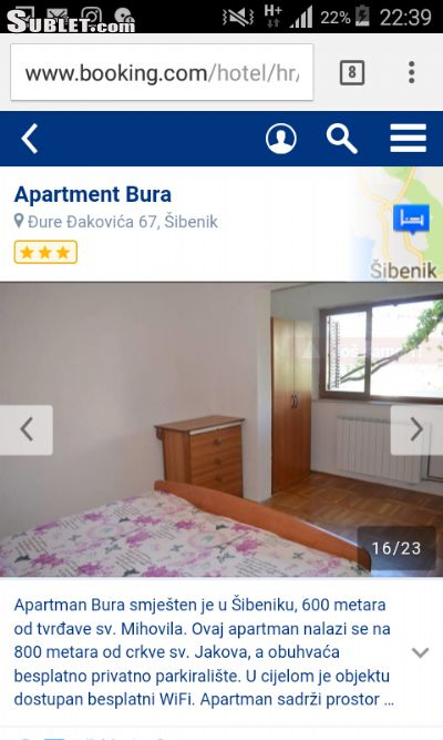 Image 5 furnished 2 bedroom Apartment for rent in Sibenik, Sibenik Knin