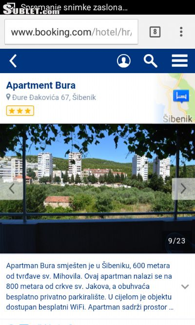 Image 6 furnished 2 bedroom Apartment for rent in Sibenik, Sibenik Knin