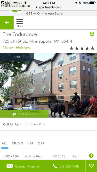 2BR Apartment for Rent on 725 8th St Se, Apt 207, Minneapolis
