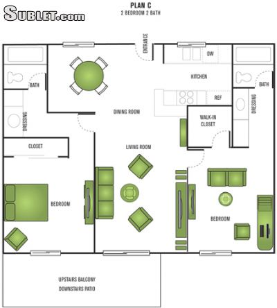 Image 3 either furnished or unfurnished 2 bedroom Apartment for rent in Anaheim, Orange County