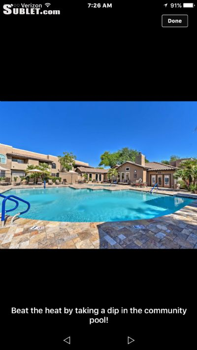 Image 1 furnished 2 bedroom Apartment for rent in Scottsdale Area, Phoenix Area