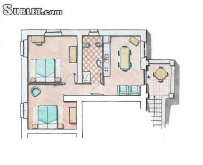 Image 2 furnished 2 bedroom Apartment for rent in Valfabbrica, Perugia