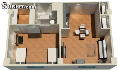 Image 5 furnished 1 bedroom Apartment for rent in University District, Columbus