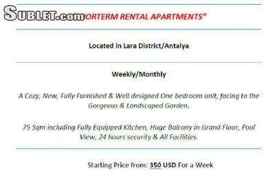 Image 5 furnished 1 bedroom Apartment for rent in Antalya, Mediterranean