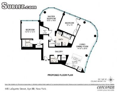 Image 3 either furnished or unfurnished 3 bedroom Apartment for rent in Nolita, Manhattan