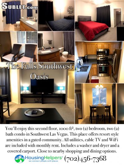 Image 1 furnished 2 bedroom Apartment for rent in Southwest Area, Las Vegas Area