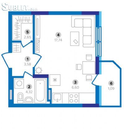 Image 9 furnished 1 bedroom Apartment for rent in Svyatoshyn, Kiev