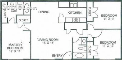 Image of $1540 3 apartment in East El Paso in El Paso, TX