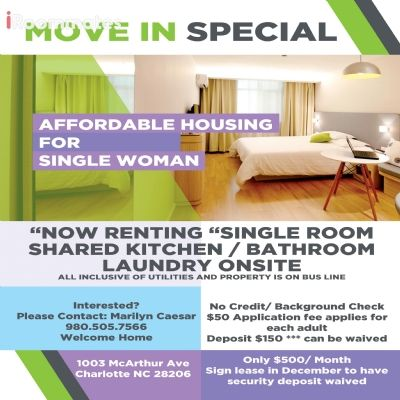 rooms for rent in Huntersville