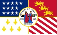 image of Detroit Area flag